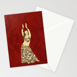 Belly dancer 3 Stationery Cards