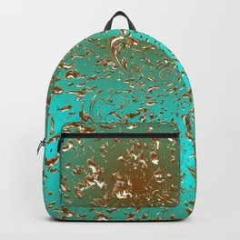Pattern Golden Emerald Backpack