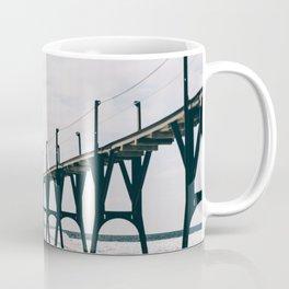 Manistee Lighthouse In Winter Coffee Mug