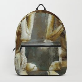 Three Wise Skeletons: Hear No Evil, See No Evil, See No Evil, Hear No Evil, Speak No Evil portrait painting Backpack