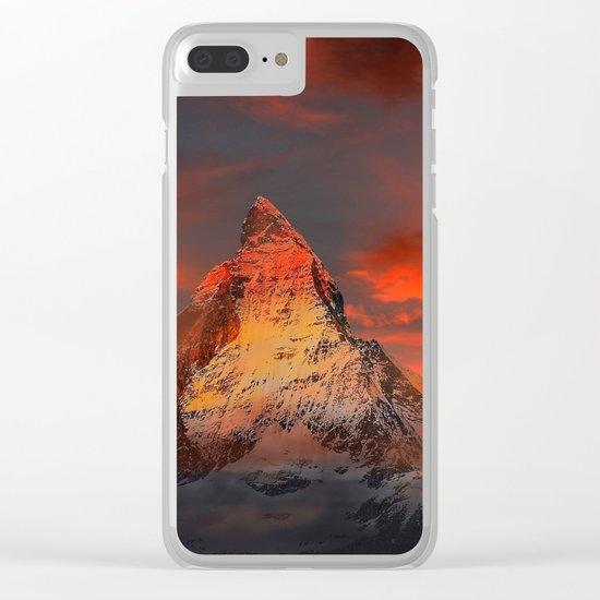 Mountain Matterhorn Switzerland Clear iPhone Case