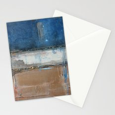 Metallic Square Series II - Navy and Copper Stationery Cards