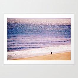 On the cusp of the ocean Art Print