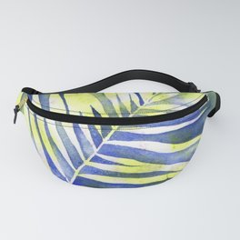 Shadows of a Green Fern Watercolour Fanny Pack