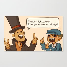 Professor Layton and the Diabolical box Canvas Print