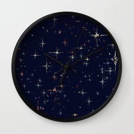 Deep Blue Starscape Stylized Wall Clock