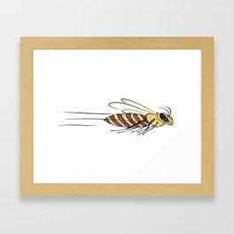 Speedy Bee Framed Art Print