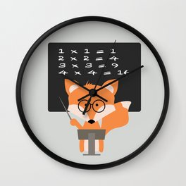 Teacher Fox Wall Clock
