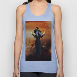 Witch and Fire Unisex Tank Top