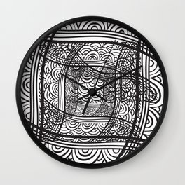 Abstract Black And White Background, Graphic Mom Gift Wall Clock