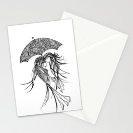 Under my umbrella Stationery Cards