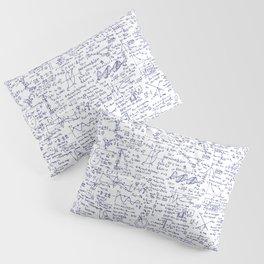 Physics Equations in Blue Pen Pillow Sham