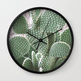 Cactus Closeup 2 Wall Clock
