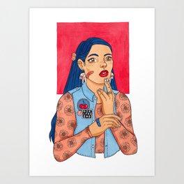 Girlfriend Art Print