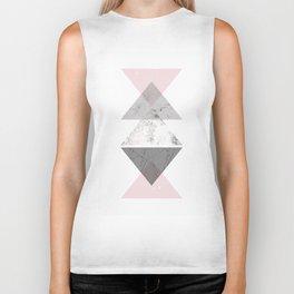 Triangle pattern modern geometric abstract Biker Tank