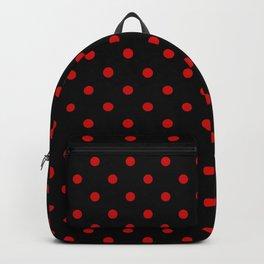 Polka Dots Classic Red & Black Backpack