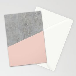 Concrete and Pale Dogwood Color Stationery Cards