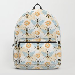 Honey Bee Abstract Pattern Backpack
