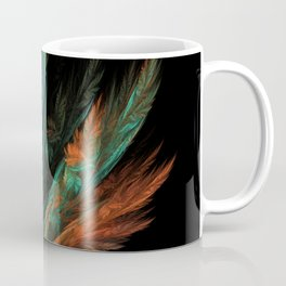 flora green fractal Coffee Mug