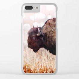 Boho Buffalo Clear iPhone Case