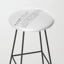 THE MEANING OF HYGGE Bar Stool
