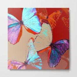 Butterflies in different colors Metal Print