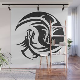 Dragons Yin Yang Wall Mural