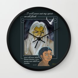 I Will Pour Out My Spirit Wall Clock