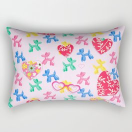 Paper Edition Color Stars Balloon Leaves Hearts Space Birds More Hearts Rectangular Pillow