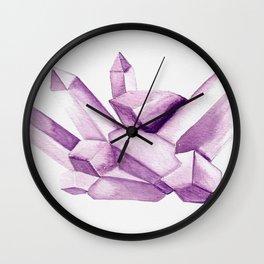 Purple gemstone Wall Clock