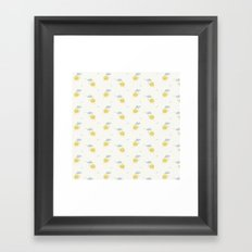Little Sun white Framed Art Print