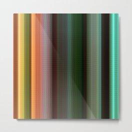Stripes green no. 3 Metal Print