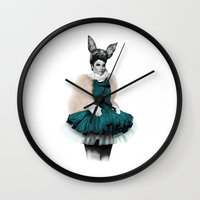 bunny Wall Clocks featuring Bunny  by BeckiBoos