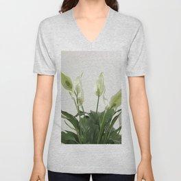 Spathiphyllum Unisex V-Neck