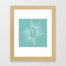60 Beats Per Minute Framed Art Print