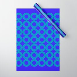 High Blue Dazzle Wrapping Paper