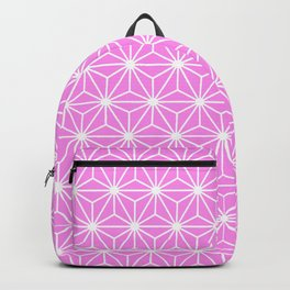 Girly Pink Geometric Flowers and Florals Isosceles Triangle Backpack