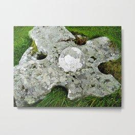 Mossy Cross Metal Print
