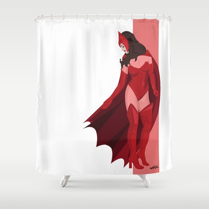 Scarlet Witch Shower Curtain By Andrewformosa