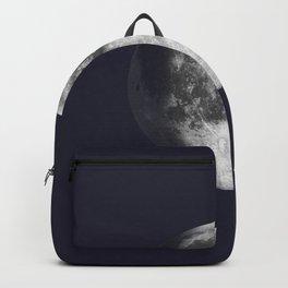 Waxing Gibbous Moon on Navy Backpack