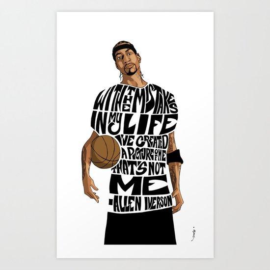 Allen Iverson Art Print