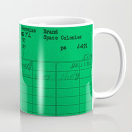 Library Card 797 Green Coffee Mug