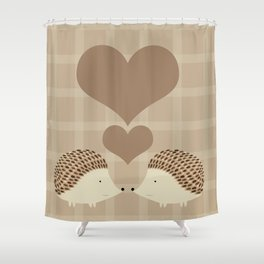 Hearts and Hedgehogs Shower Curtain