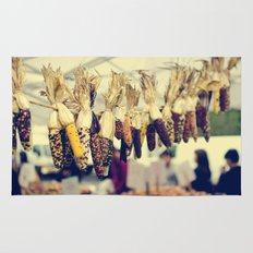 Indian Corn at the Farmers Market Rug