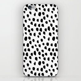 Handdrawn drops and dots on white-Mix & Match with Simplicty of life iPhone Skin