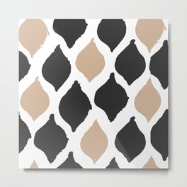 twocolors pattern Metal Print