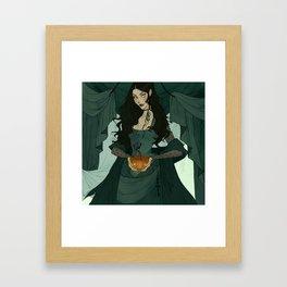 Jack (O'Lantern) and Jill Framed Art Print