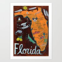 florida Art Prints featuring FLORIDA by Christiane Engel