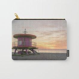 Miami Beach lifeguard house sunrise Carry-All Pouch