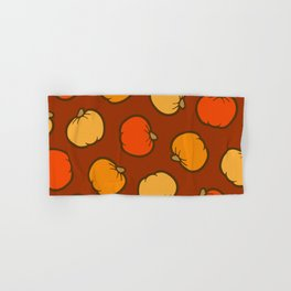 Pumpkin Pattern on Brown Hand & Bath Towel